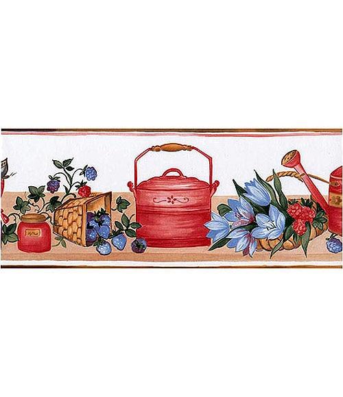 Cenefas de vinilo para cocinas jardin ref 12877823 - Cenefas adhesivas cocina ...