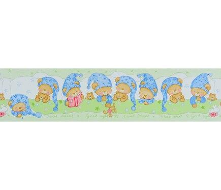Cenefa infantil de papel oso dormilon verde ref 15629096 - Cenefas adhesivas leroy merlin ...