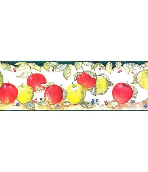 Cenefas de vinilo para cocinas manzanas vd ref 15629782 - Cenefas vinilo cocina ...