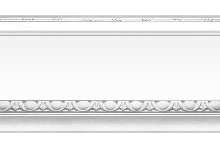 Cenefa cl sica de papel moldura plata ref 16759330 - Molduras decorativas leroy merlin ...