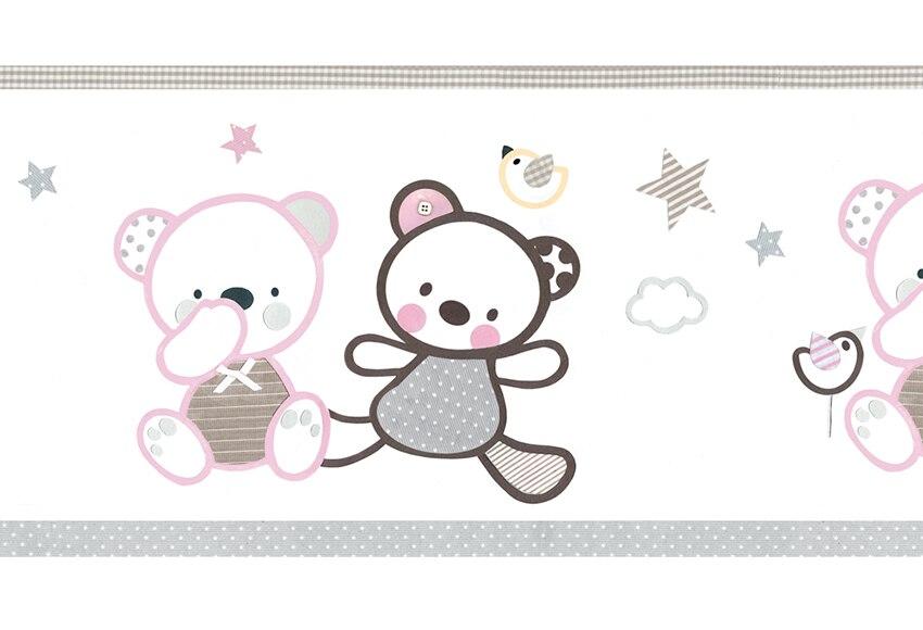 Cenefa infantil de papel ositos rosas ref 16759400 for Cenefas infantiles leroy merlin