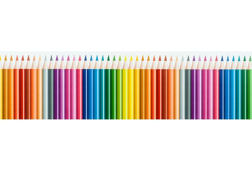 Cenefa infantil de papel lapices ref 17422041 leroy merlin - Cenefas de papel para paredes ...
