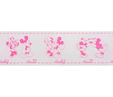 Cenefa infantil de papel mickey minnie rosa ref 17432702 - Cenefas de papel infantiles ...