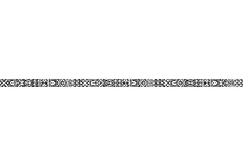Cenefa de vinilo azulejos blanco y negro ref 19119345 - Cenefas leroy merlin ...