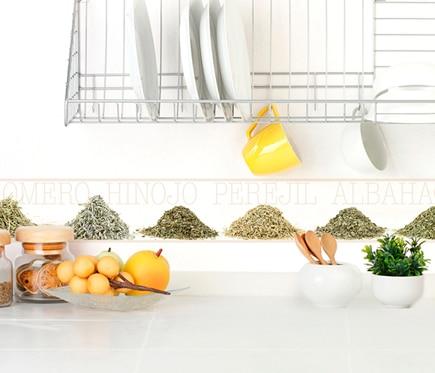 Cenefa de papel para cocinas especias ref 19438223 - Cenefas cocina leroy merlin ...