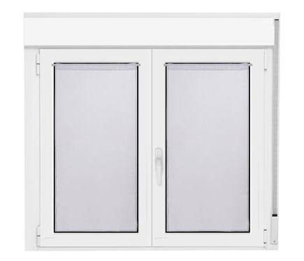 2 visillos tendina 45x90 cm essential blanco ref 19384232 for Visillos leroy merlin