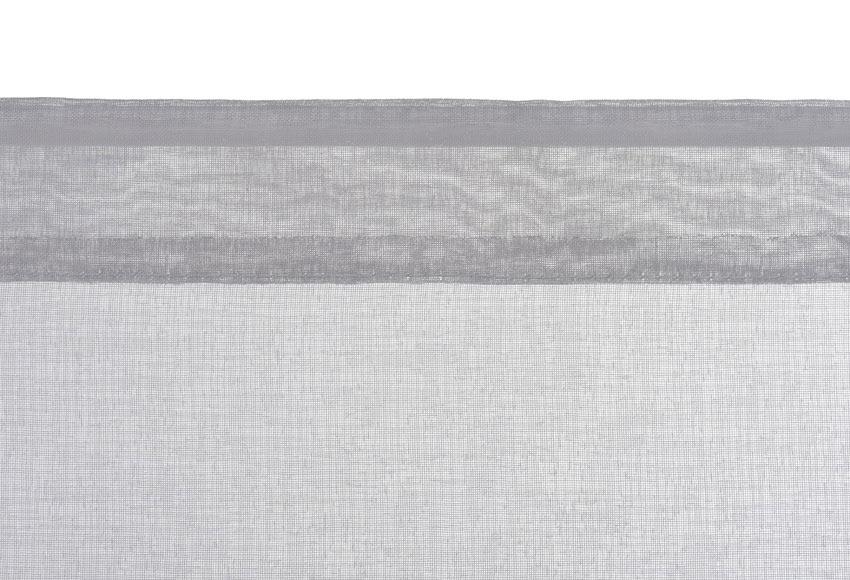 2 visillos tendina 45x120 cm leo gris galet ref 19384806 for Visillos leroy merlin