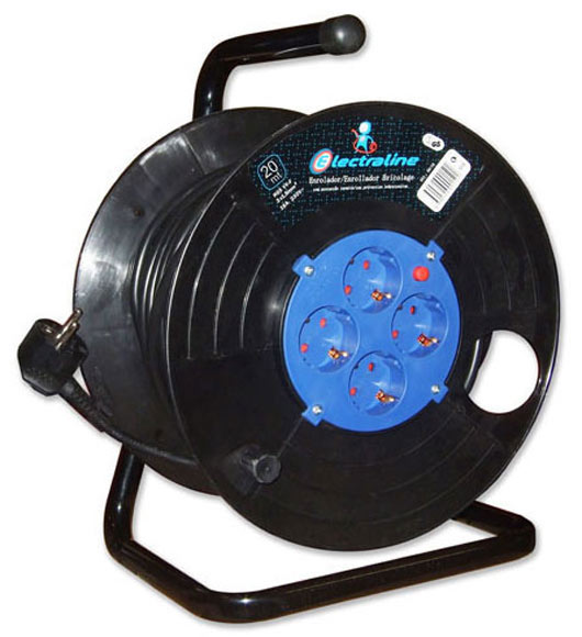 Enrollacable para bricolaje electraline 4t h05vvf 25m ref for Alargador de corriente