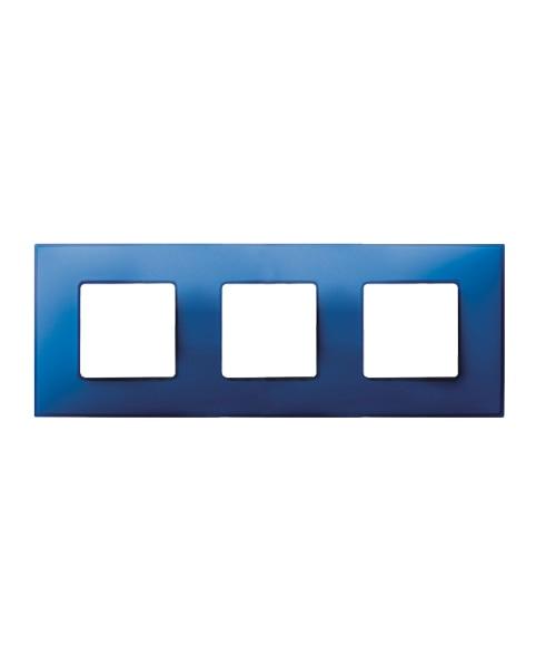 Marco triple simon 27 blanco azul el ctrico ref 13895490 - Simon 27 blanco ...