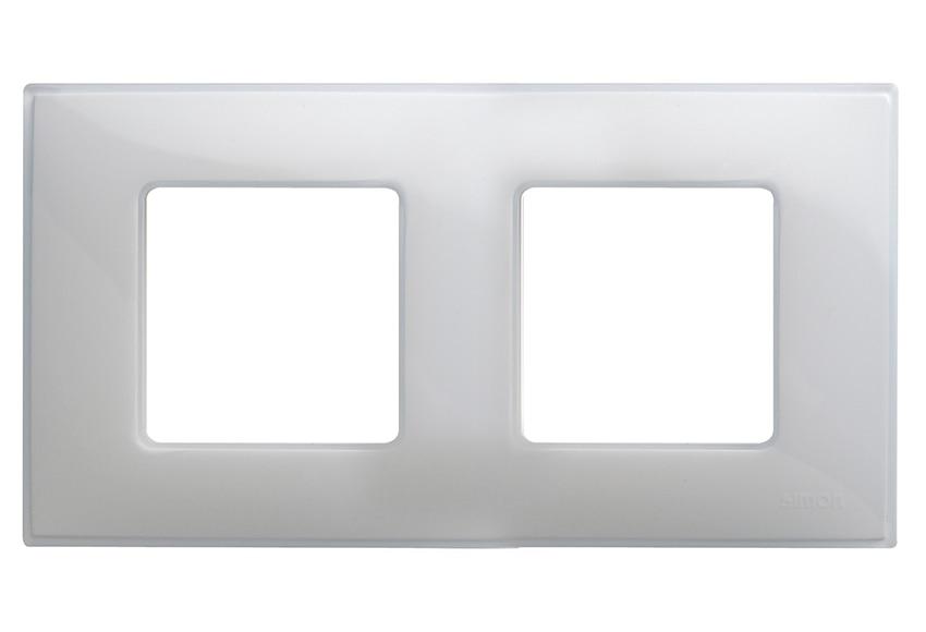 Marco doble simon 27 blanco gris mate ref 13895350 - Simon 27 blanco ...