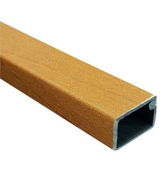 Canaleta hager madera oscura ref 13855576 leroy merlin for Canaletas para techos de madera