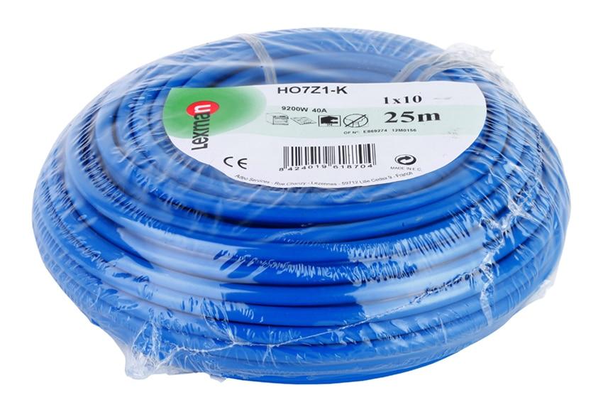 cable para interior lexman cable azul h07z1 k 10mm2 ref 15253035 leroy merlin. Black Bedroom Furniture Sets. Home Design Ideas