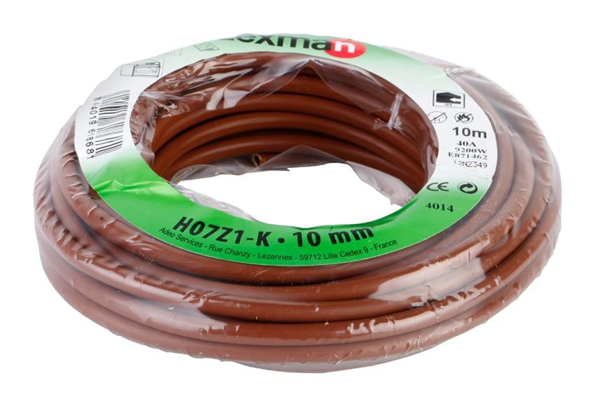 cable para interior lexman cable marr n h07z1 k 10mm2 ref 15253014 leroy merlin. Black Bedroom Furniture Sets. Home Design Ideas