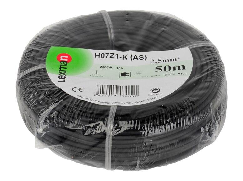 Cable para interior libre de hal genos lexman cable negro for Cable libre de halogenos 25mm