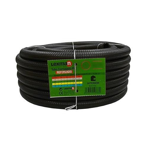 Tubo corrugado pvc lexman tubo corrugado reforzado 20 ref for Tubo corrugado reforzado
