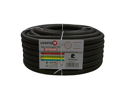 Tubo corrugado pvc lexman tubo corrugado reforzado 16 ref for Tubo corrugado reforzado