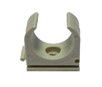 Lexman Grapa clip Grama metálica tubo rígido gris