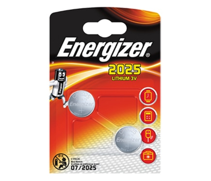 Energizer Pack de 2 pilas de litio CR2025