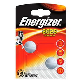 Pack de 2 pilas de litio Energizer CR2025