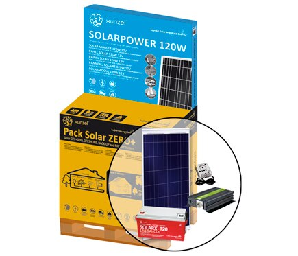 Kit de iluminaci n solar xunzel solar zero ref 17102120 - Kit solar leroy merlin ...
