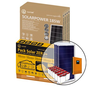 Kit de iluminaci n solar xunzel solar zero ref 17102274 - Kit solar leroy merlin ...