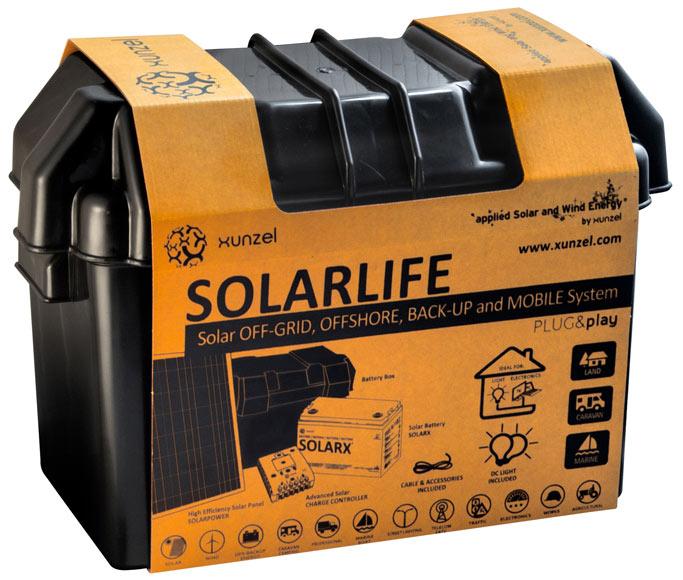 Kit de iluminaci n solar xunzel solarlife ref 17102001 for Kit placas solares leroy merlin