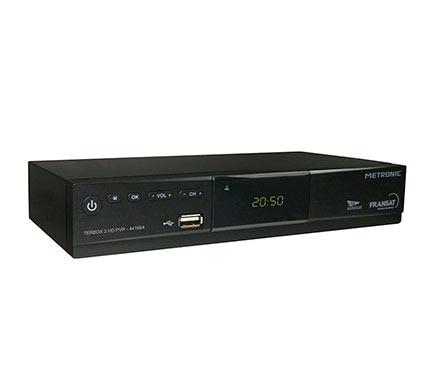 receptor sat lite metronic fransat terbox 3 hd ref 17125731 leroy merlin. Black Bedroom Furniture Sets. Home Design Ideas