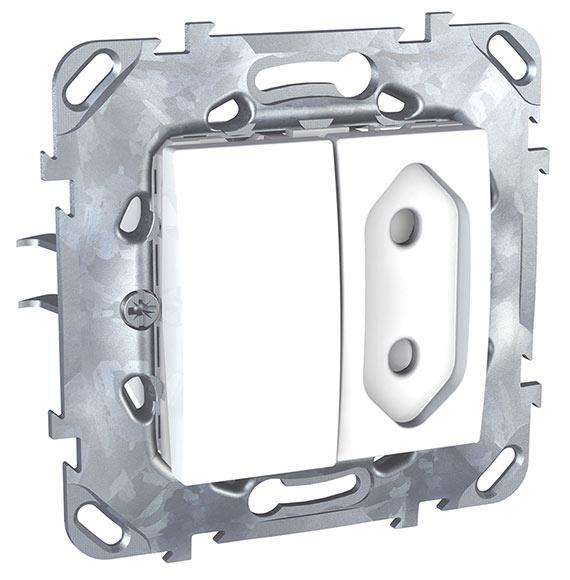 interruptor conmutador enchufe schneider unica plus ref