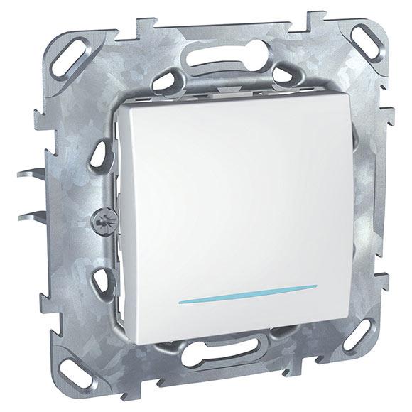 Interruptor conmutador con luz schneider unica plus ref - Conmutador de luz ...