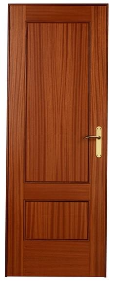Puerta de interior maciza atenas sapelly ref 13395431 for Puertas de madera maciza para interior