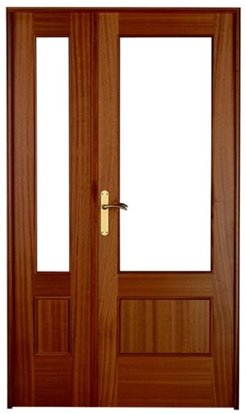 Puerta de interior con cristal atenas sapelly doble ref - Puertas dobles de interior ...