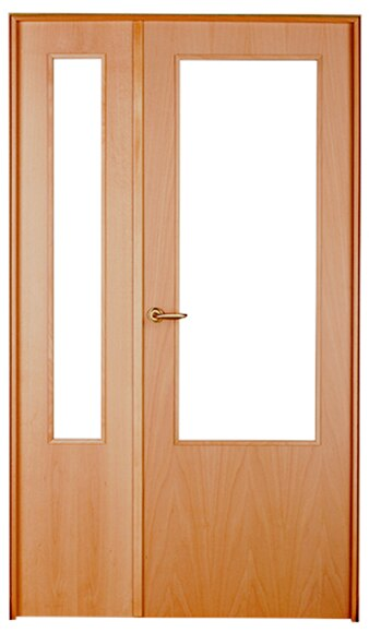 Puerta de interior con cristal austria haya doble ref for Puerta doble interior