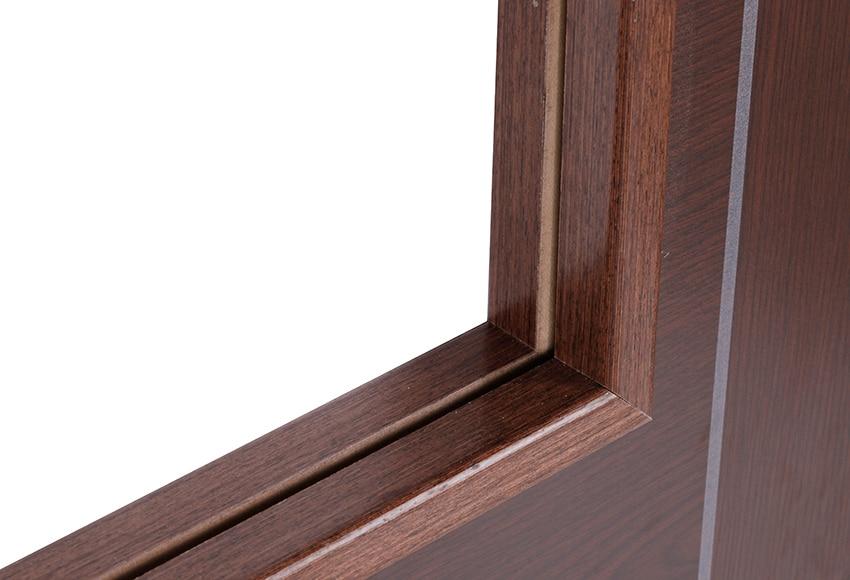 Puerta de interior sin cristal baleares wengue doble ref for Puertas wengue leroy merlin