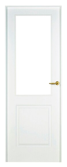 Puerta de interior sin cristal bonn lacada blanca vidriera for Puerta lacada blanca con cristal