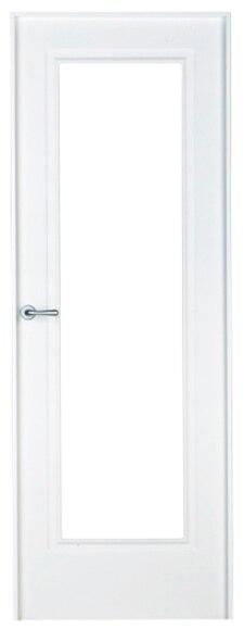 Puerta de interior sin cristal boston lacada blanca for Puerta blanca cristal