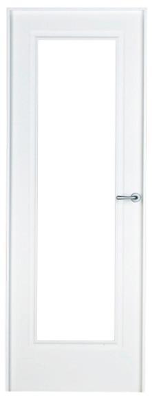 Puerta de interior con cristal boston lacada blanca for Puerta lacada blanca con cristal