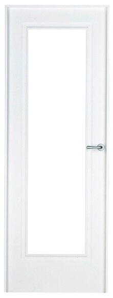 Puerta de interior con cristal boston lacada blanca vidriera for Puerta lacada blanca con cristal