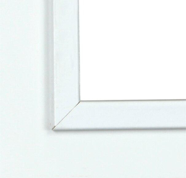 Puerta de interior con cristal holanda lacada blanca doble for Puerta lacada blanca con cristal