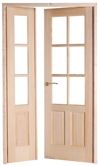 Puerta de interior con cristal malaga pino doble ref - Puertas interior malaga ...