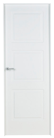 Puerta de interior maciza monaco lacada blanca ref for Puerta lacada blanca