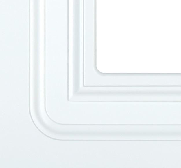 Puerta de interior sin cristal monaco lacada blanca for Puerta lacada blanca con cristal