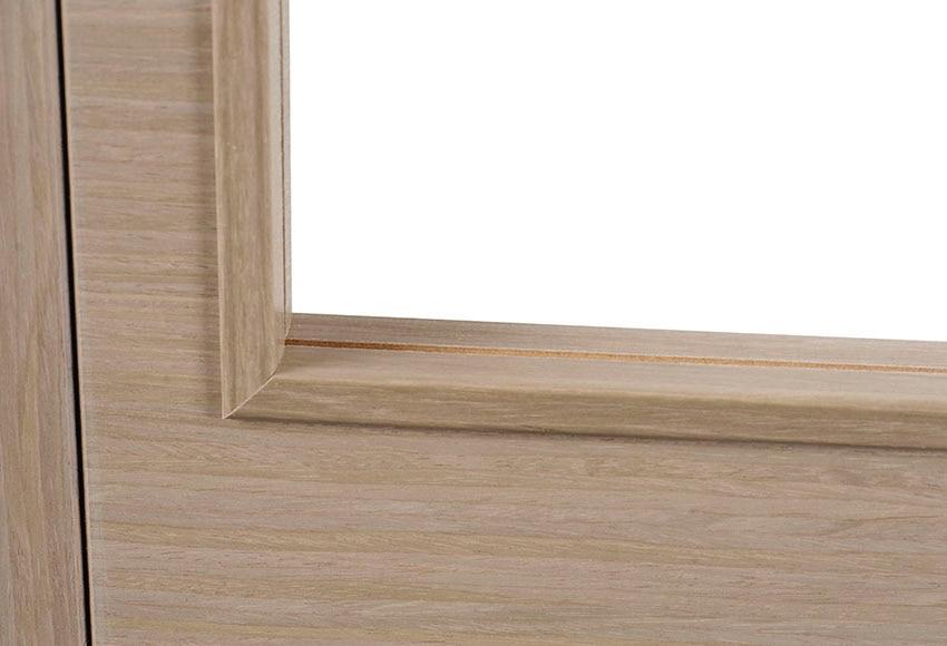 Puerta de interior sin cristal noruega roble gris doble for Puerta interior gris