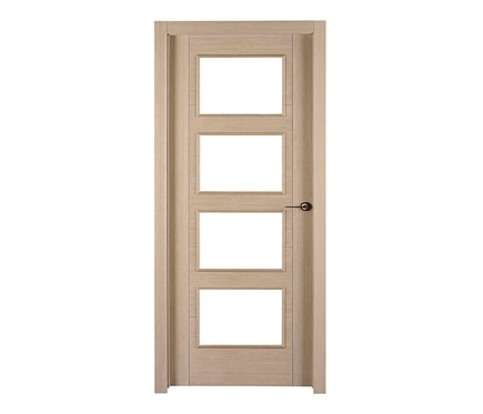 Puerta de interior con cristal noruega roble gris vidriera for Puerta interior gris