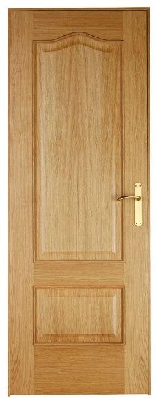 Puerta de interior maciza roma roble ref 13396355 leroy for Puertas de roble interior