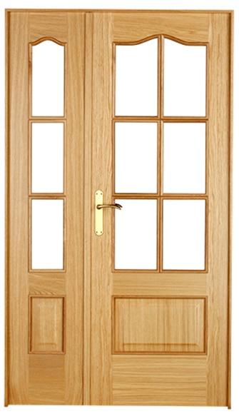 Puerta de interior sin cristal roma roble doble ref for Puertas de roble interior