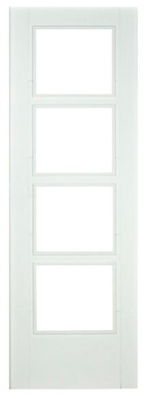 Puerta de interior sin cristal hungr a lacada blanca ref for Puerta blanca cristal