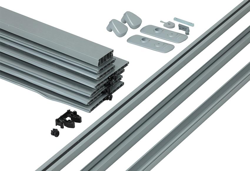 Puerta plegable spacy aluminio ref 13086500 leroy merlin - Puertas plegables aluminio ...