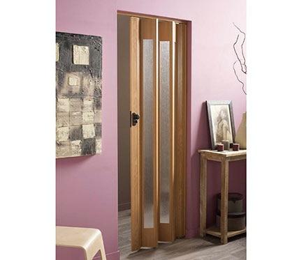 puerta plegable artens ibiza roble cristal ref 14687421