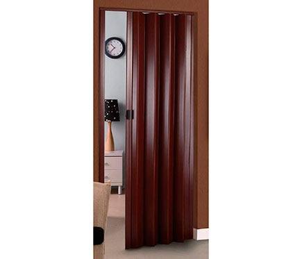 Puerta plegable artens rio sapelly ref 16155643 leroy - Puerta plegable madera ...