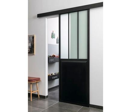 Puerta de cristal atelier corredera ref 19191130 leroy for Puerta corredera bano leroy merlin